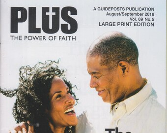 Plus August/September 2018 The Secret to Endless Energy (Large Print Edition) (Magazine: Inspiration, Spirituality)