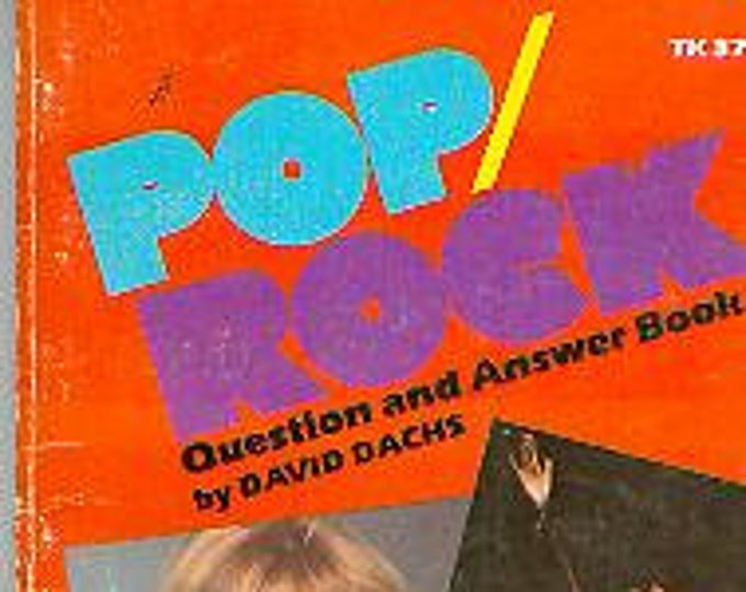 Pop/Rock Question and Answers Book (Vintage Scholastic Book TK 3717) (Paperback Nonfiction  Music)  1977