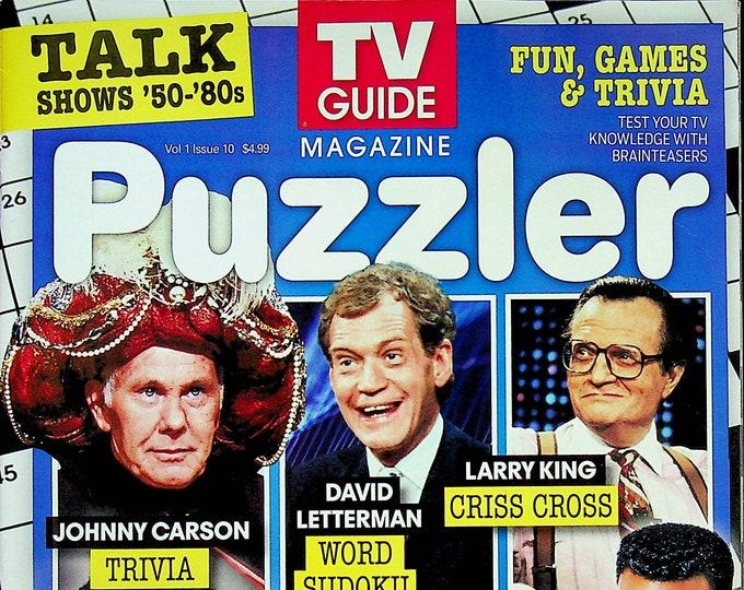 TV Guide Puzzler June 2021 Talk Shows 1950s-80s (Magazine: Nostalgia, Puzzles, Celebrities)