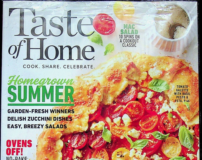 Taste of Home June July 2021 Homegrown Summer  (Magazine: Cooking, Recipes)