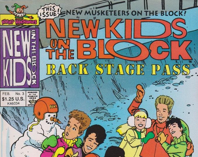 Harvey Rockomics  February No. 3  New Kids on The Block Back Stage Pass (Comic Book: New Kids on the Block) 1991