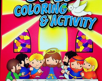 Bible Coloring & Activity Book (The Last Supper Cover)   (Softcover: Children's, Coloring Book, Religious) 2017