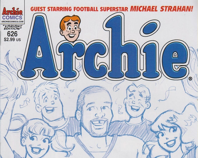 Archie Comics #626 Archie Guest Starring Football Superstar Michael Strahan!  (Comic Book: Archie) 2011