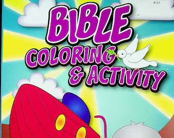 Bible Coloring & Activity Book (Noah's Ark Cover) (Softcover: Children's, Coloring Book, Religious) 2017