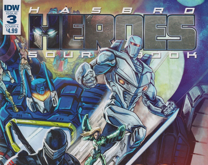 IDW Issue 3 Cover A Hasbro Heroes Sourcebook First Printing (Comics: Transformers, GI Joe)