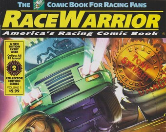 The 7Up Comic Book - Race Warrior Vol. 1 No. 2 Special Feature Tony Stewart  (Comic Book: Race Warrior) 2000