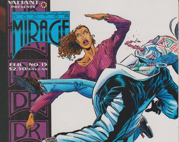 Valiant No. 15  The Second Life of Doctor Mirage - The Face of Fear!  (Comic:Doctor Mirage) 1995