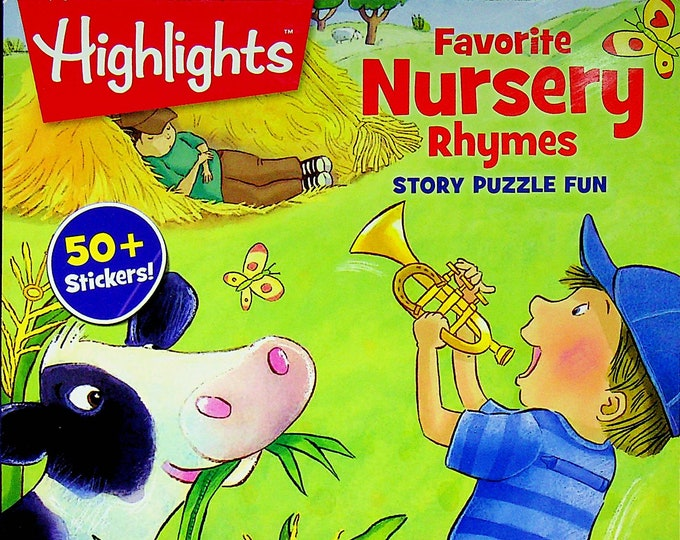 Highlights Favorite Nursery Rhymes Story Puzzle Fun  50+ Stickers  (Softcover: Children's, Puzzles) 2017