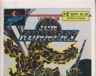 Sirius Comics September 1986 Tales of the Sun Runners Vol. 2 No. 2  Death of a Sun Runner (Copper Age Comic: Sun Runners)