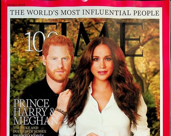 Time Sept. 27 - Oct. 4, 2021 Prince Harry & Meghan 100 The World's Most Influential People  (Magazine: Current Events, News)