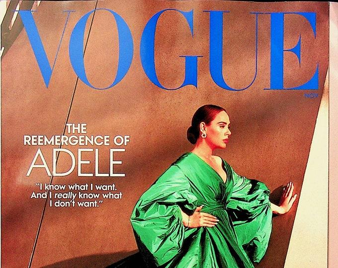 Vogue November 2021 The Reemergence of Adele  (Magazine: Fashion)