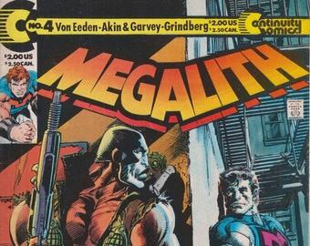 Continuity November 1990 Megalith No 4 The Gun  ( Copper Age Comic:Megalith)