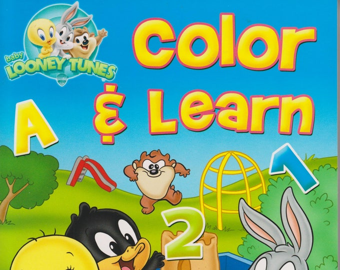 Baby Looney Tunes Color and Learn ABC 123  (Coloring & Activity Book) (Easy Tear-Out Pages) (Softcover: Children's, Educational) 2011