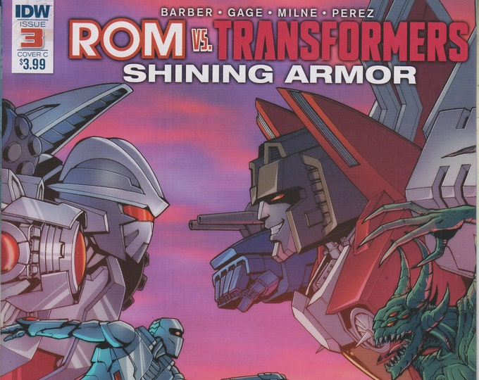 IDW September 2017 Issue 3 Cover C ROM vs. Transformers Shining Armor  First Printing (Comic: Transformers, ROM)