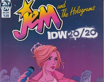 IDW 20/20 Cover One Shot Jem and the Holograms January 2019  First Printing (Comic: Jem and the Holograms)