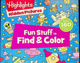Highlights Hidden Pictures Fun Stuff to Find & Color (Paperback: Children's, Coloring, Activity) 2020