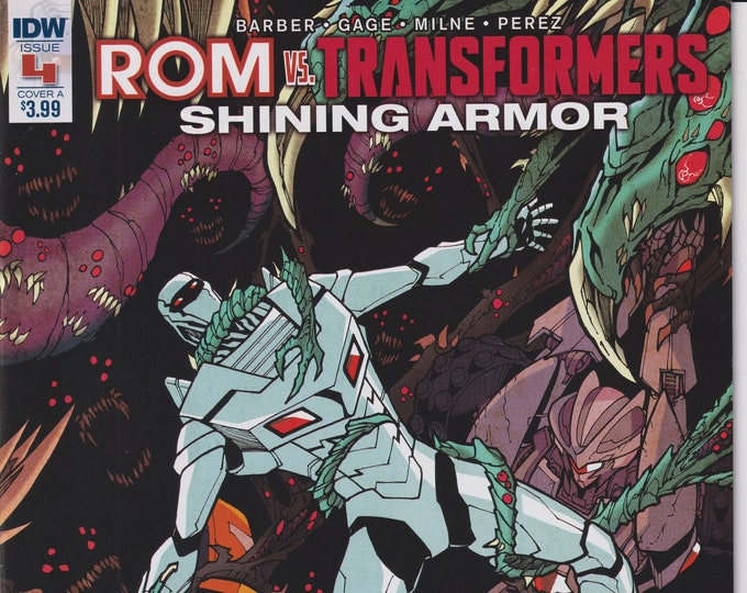IDW October 2017 Issue 4 Cover A ROM vs. Transformers Shining Armor  First Printing (Comic: Transformers, ROM)