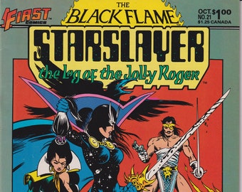 First Comics The Black Flame Starslayer Vol. 1 No. 21 October 1984 (Bronze Age Comic: Black Flame)