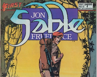 First Comics Jon Sable Freelance Vol. 1 No. 12 May 1984 (Copper Age Comic: Jon Sable)