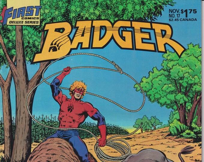 First No.17 November  1986 Badger ( Copper Age Comic: Badger)
