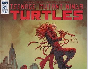IDW 81 Cover A April 2018 First Printing Teenage Mutant Ninja Turtles (Comic)