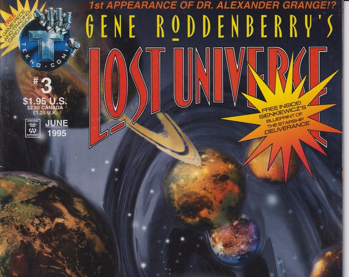 Tekno Comix #3 Gene Roddenberry's Lost Universe June 1995 (Comic)