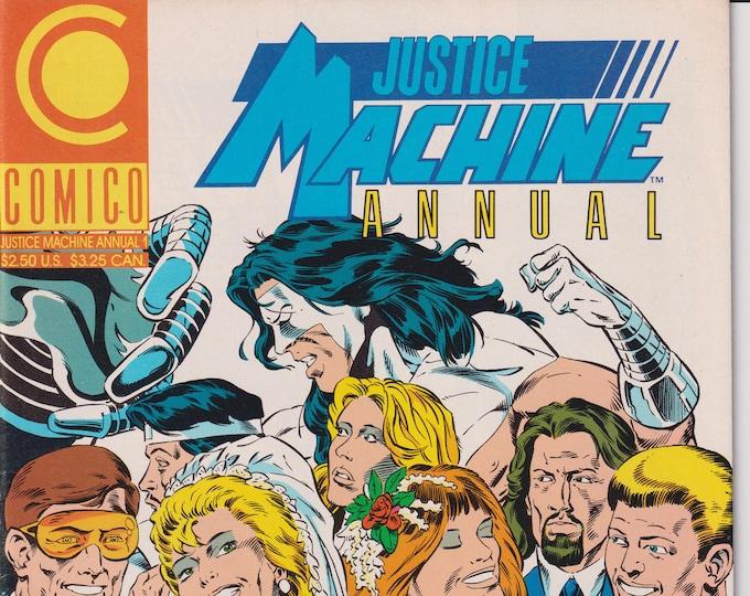 Comico Justice Machine Annual #1  (Comic: Justice Machine, Copper Age Comic)