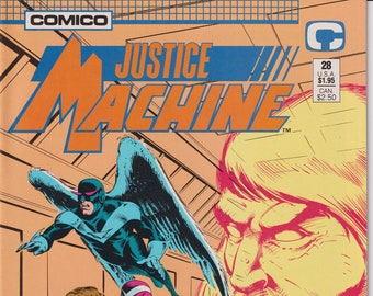 Comico #28 Justice Machine (Comic: Justice Machine, Copper Age Comic)
