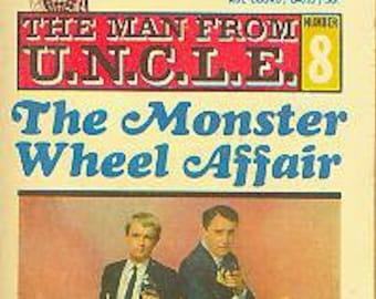 The Man from U.N.C.L.E  #8 The Monster Wheel Affair (Paperback: TV Show, Suspense) 1967