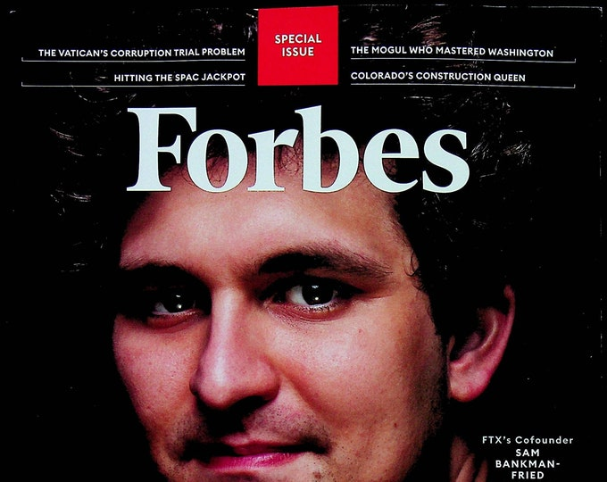 Forbes October November 2021 Forbes 400 Special Issue Sam Bankman-Fried (Magazine: Finance, Business)