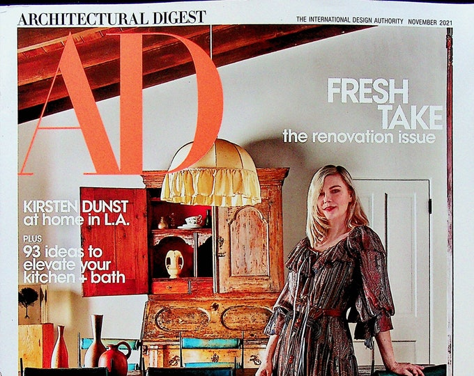 Architectural Digest November 2021 Kirsten Dunst At Home In L.A. (Magazine: Home Decor)