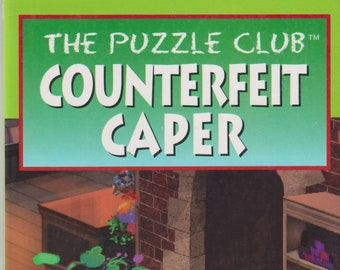 The Puzzle Club Counterfeit Caper by Dandi Daley Mackall   (Paperback: Grade 3 Ages 6-10  Chapter Book) 1999