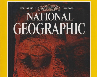 National Geographic July 2000 Wrath of the Gods, Map Supplement - Australia Under Siege  (Magazine: General Interest, Geography)