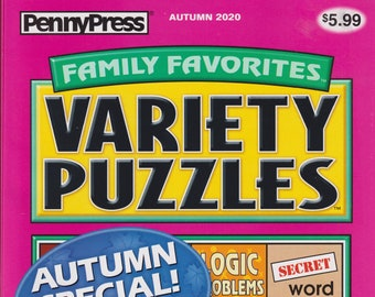 PennyPress Family Favorites Variety Puzzles Autumn Special Over 560 Puzzles! (Paperback: Pencil Puzzles)