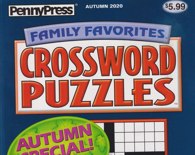 PennyPress Family Favorites Crossword Puzzles Autumn Special Over 300 Puzzles! (Paperback: Pencil Puzzles)
