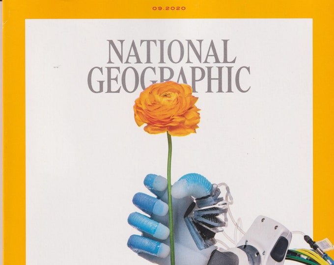 National Geographic September 2020 Meet the Robots, Great Lakes, Ostriches, Oceans  (Magazine: Geography, History, Nature, Photography)