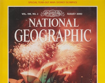 National Geographic August 2000 Sydney Olympics With Tear Out Map, Zulus, Fungi, Temples of Angkor  (Magazine: General Interest)