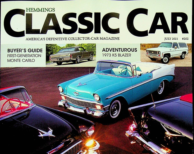 Hemmings Classic Car July 2021 Icons Chevy's Winning Blend of Style & Speed  (Magazine: Automotive)