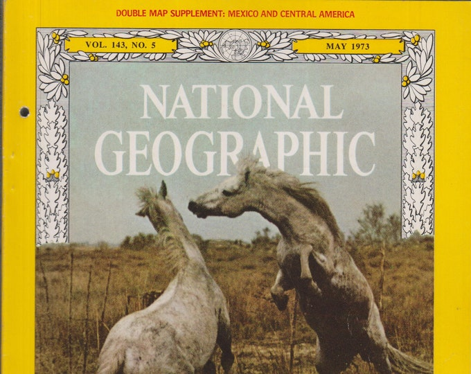 National Geographic May 1973 France's Wild Watery South; The Volga; Bats; Mexico; Bicycles, Bikepacking (Magazine: Nature, Geography) 1973