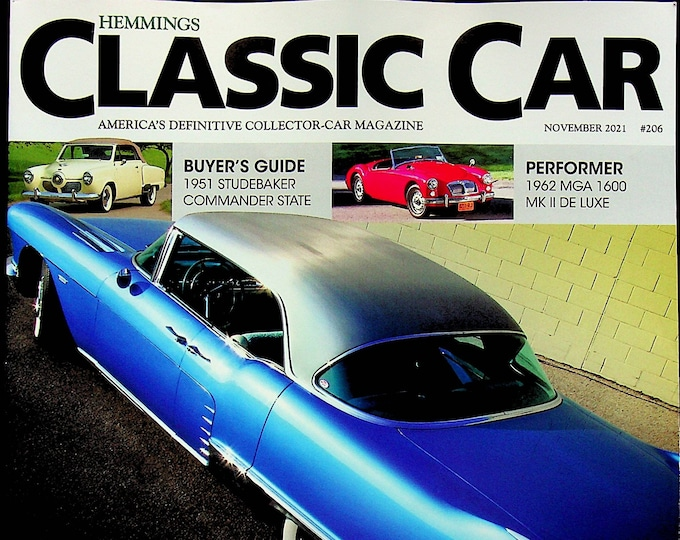 Hemmings Classic Car November 2021 The 1950s Decade of Design A Celebrations of Style and Speed (Magazine: Automotive)