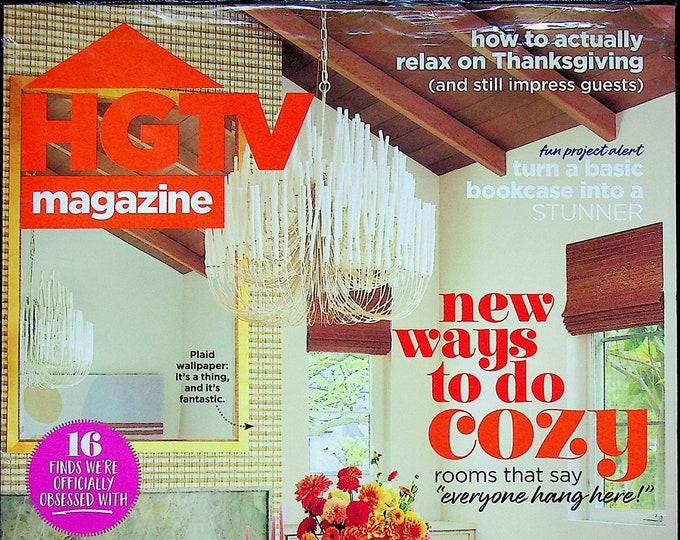 HGTV November 2021 New Ways to Do Cozy (Magazine: Home Decor)