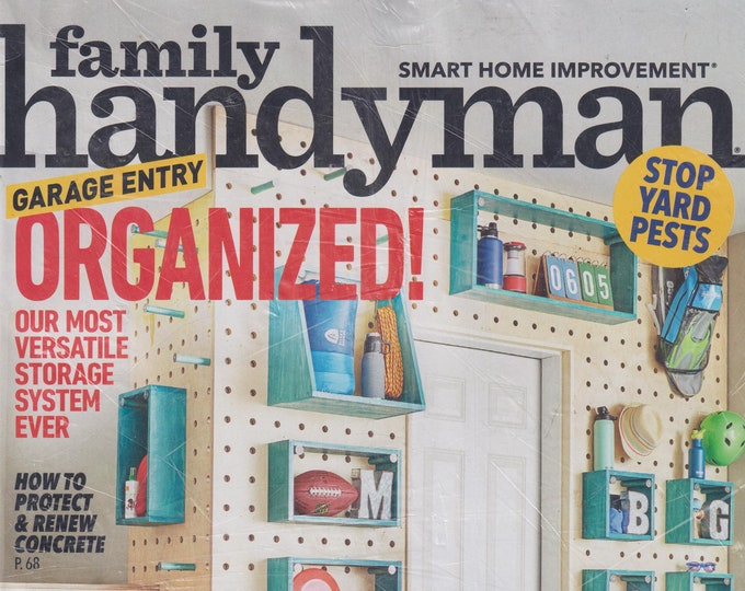 The Family Handyman September 2020 Garage Entry Organized!  (Magazine: DIY, Home Improvement)