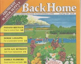 Back Home  No. 29 July/Aug 1997 Abundant Water Supply, Potato Beetles, Edible Flowers (Magazine: Green Living, Sustainable Living)