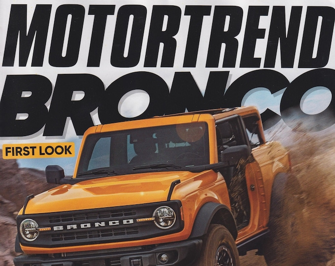 Motor Trend September 2020 Bronco First Look and It's Little Brother Bronco Sport   (Magazine: Automotive, Cars)