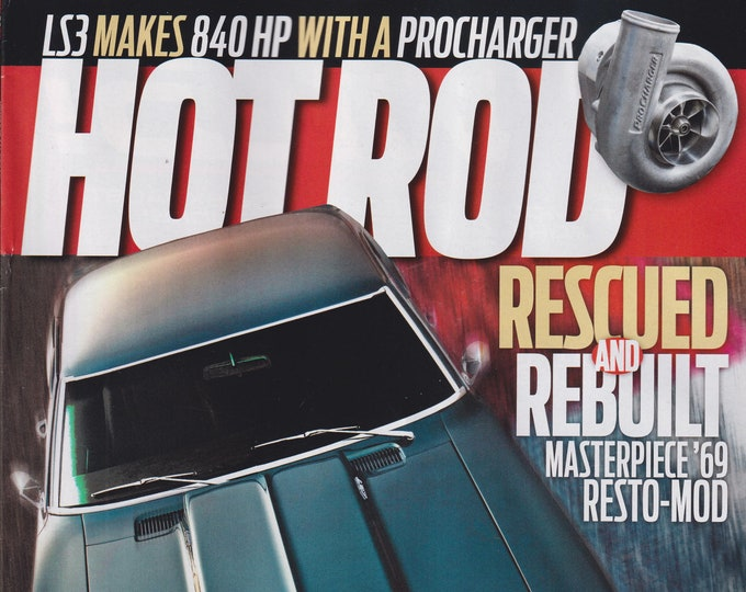Hot Rod January 2021 (1969 Camaro) Rescued and Rebuilt Masterpiece '69 Resto-Mod  (Magazine: Cars, Automotive)