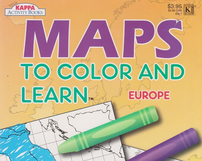 Maps to Color and Learn - Europe  Coloring & Activity Book (Softcover: Children's, Educational)  2009