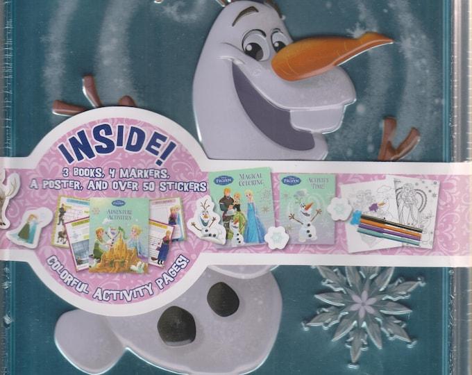Disney Frozen Olaf Decorative Tin (Decorative Tin includes books, poster, markers, stickers) (Children's) 2016
