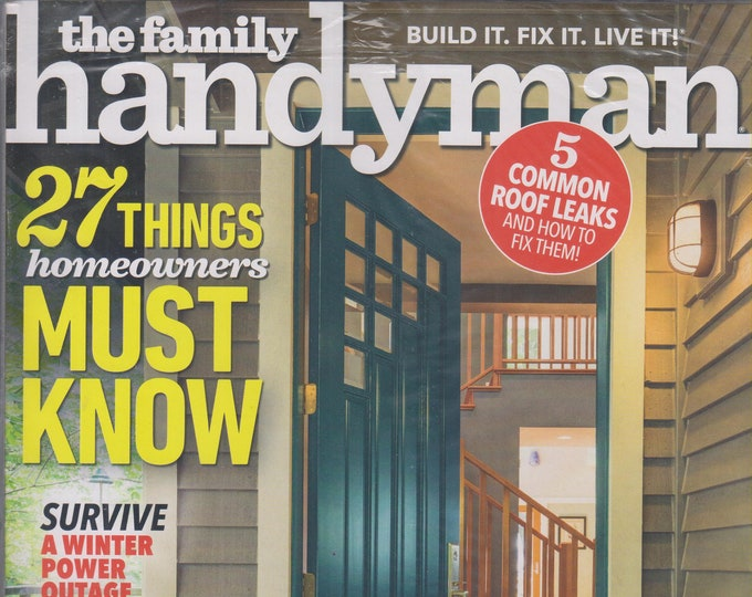 The Family Handyman October/November 2018 27 Things Homeowners Must Know (Magazine: DIY, Home Improvement)