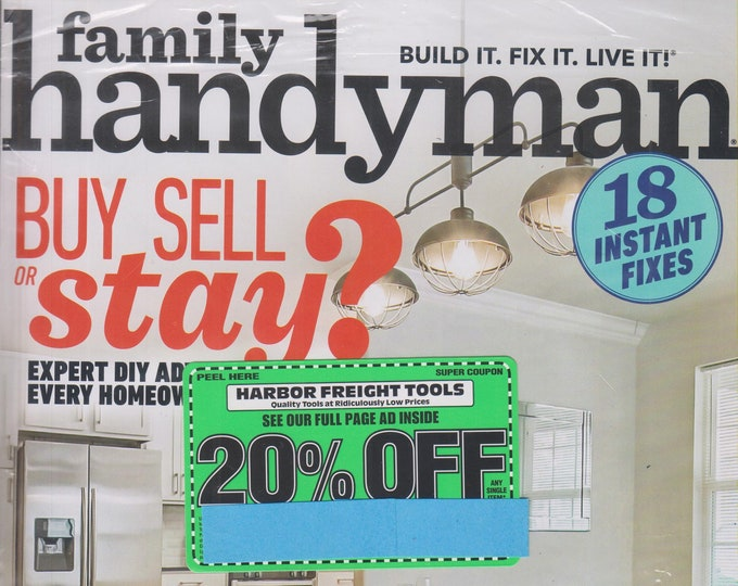 The Family Handyman June 2019 Buy Sell or Stay? (Magazine: DIY, Home Improvement)