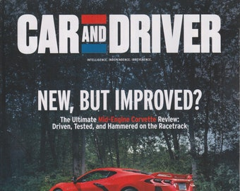 Car and Driver December 2019 Mid-Engine Corvette - New, But Improved?  (Magazine: Automotive)